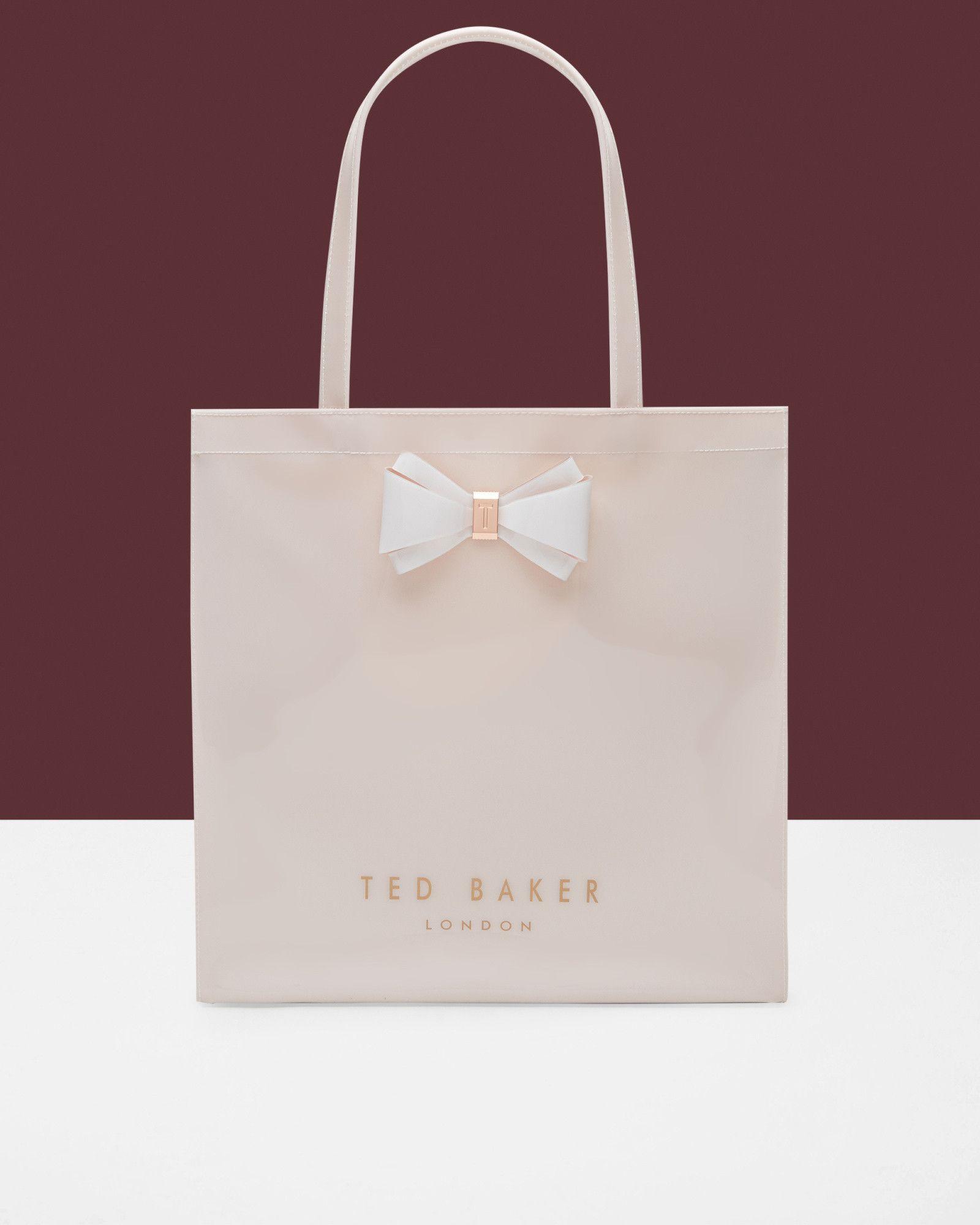 Bow detail large shopper bag - Mid Pink  ffc8c0f17