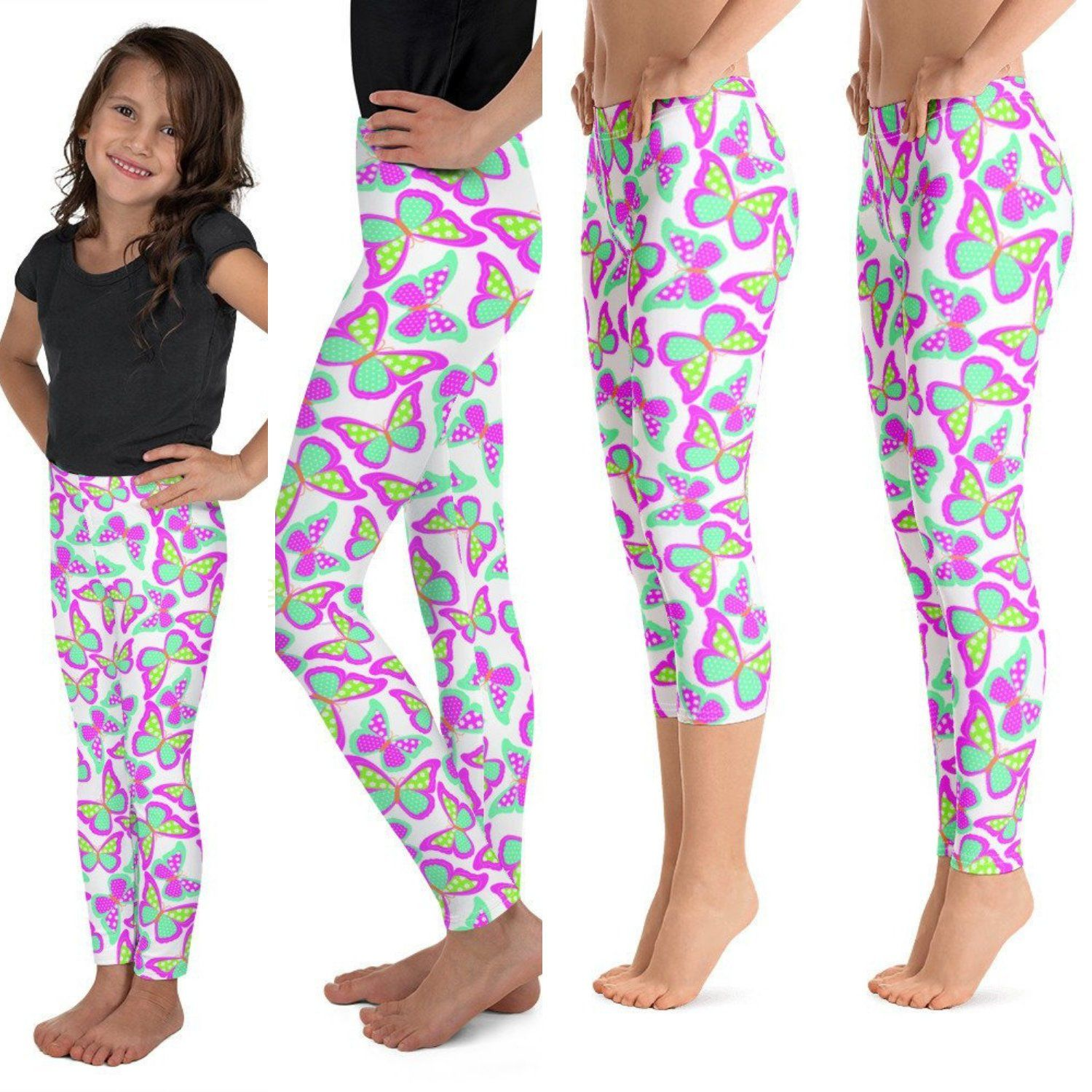 5830a9384334f1 Excited to share the latest addition to my #etsy shop: Butterfly Youth  Leggings,