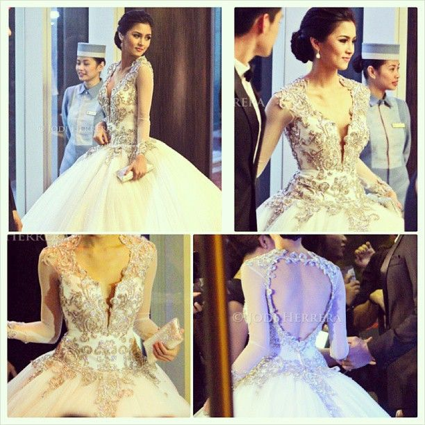 Kim Chui <3 Gown by: Pepsi Herrera | Wedding | Pinterest | Pepsi ...