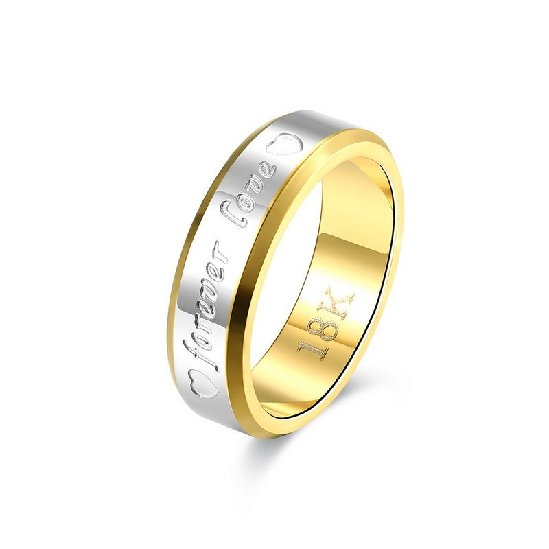 Hot Selling Europe Fashion Sources An Everlasting Love Couples Jewelry Wholesale Stainless Steel Rings For Men And Women