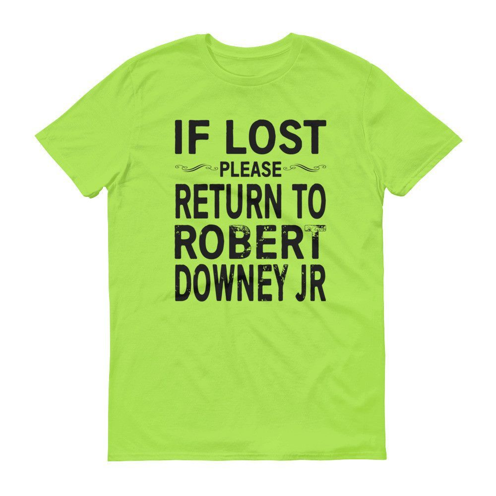 IF LOST PLEASE RETURN TO ROBERT DOWNEY JR Short sleeve Unisex t-shirt