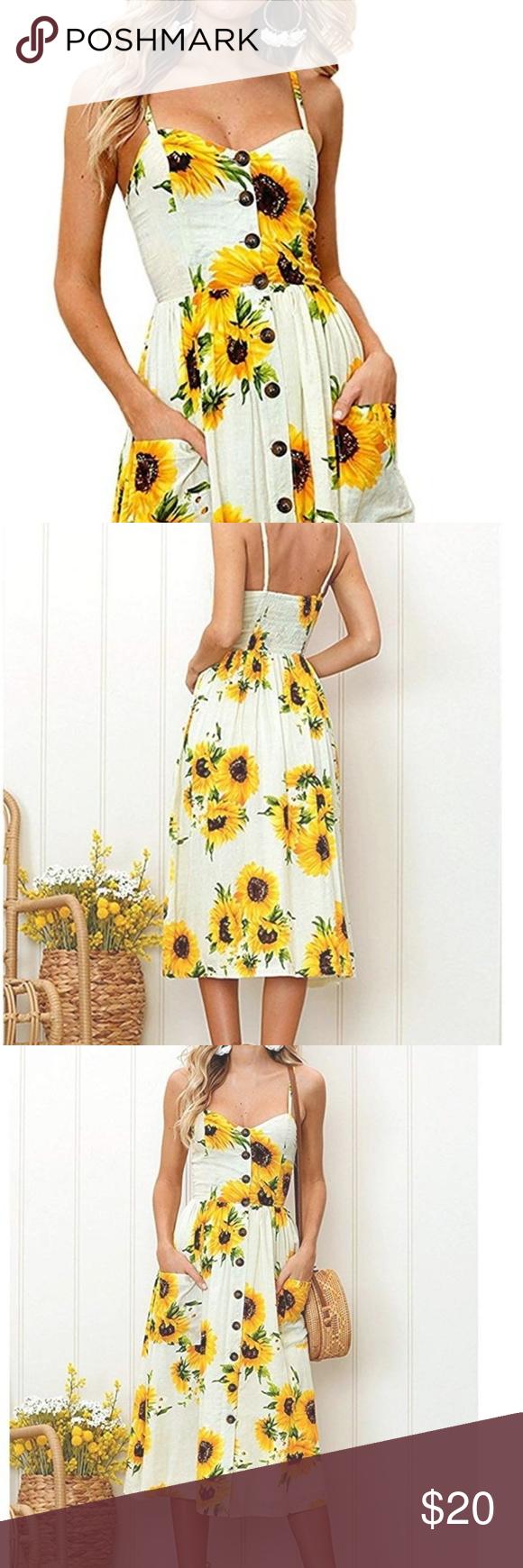 Sunflower Dress Sunflower Dress Clothes Design Dresses [ 1740 x 580 Pixel ]