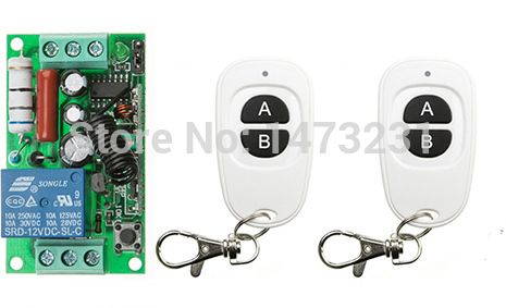 Ac220v 1ch Rf Wireless Mini Switch Relay Receiver Remote Controllers 2 White Ab Keys Waterproof Transmitter Toggle Momentary Transmitter Wireless Remote