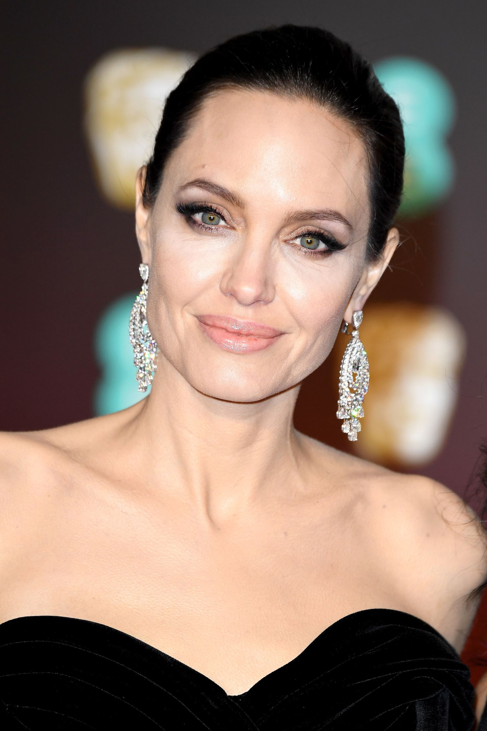 Angelina Jolie Nue Sex angelina, j-law and lupita stun on the 2018 bafta red carpet