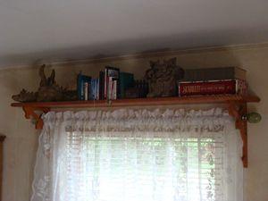 Creating Display Shelves Above Windows Diy Too Cool In