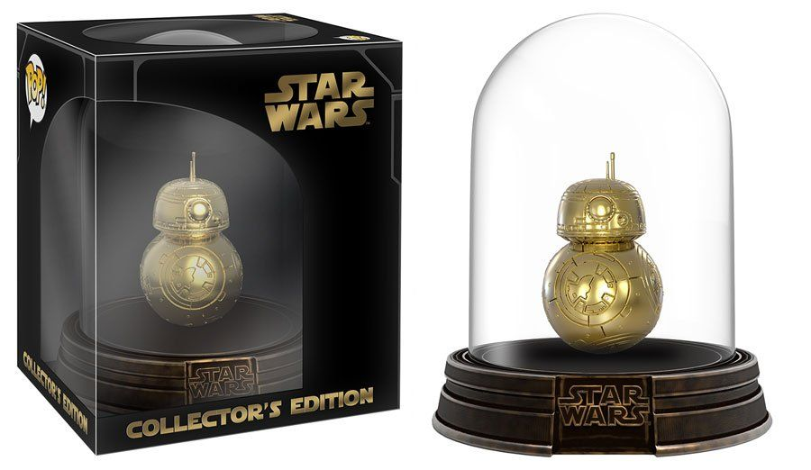 Star Wars The Force Awakens Gold Bb 8 Collector S Edition Pop Figure With Dome By Funko Hot Topic Exclusive For Black Friday Starwars Funko Pop Cromos