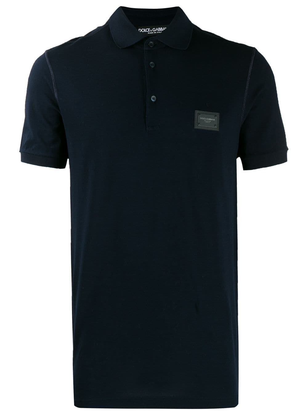 ce1116d4f61 Dolce & Gabbana logo patch polo shirt - Blue in 2019 | Products ...