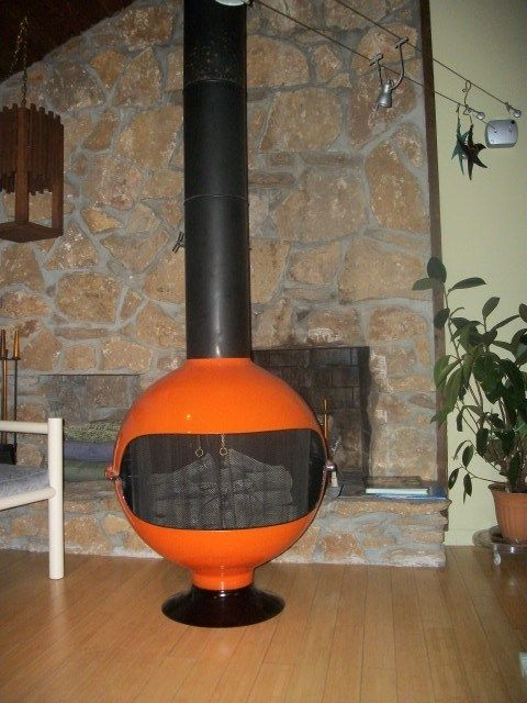 Details About Rare Large Mid Century Modern Fireplace Cone