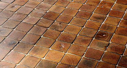 Wood Grain Ceramic Tile Flooring