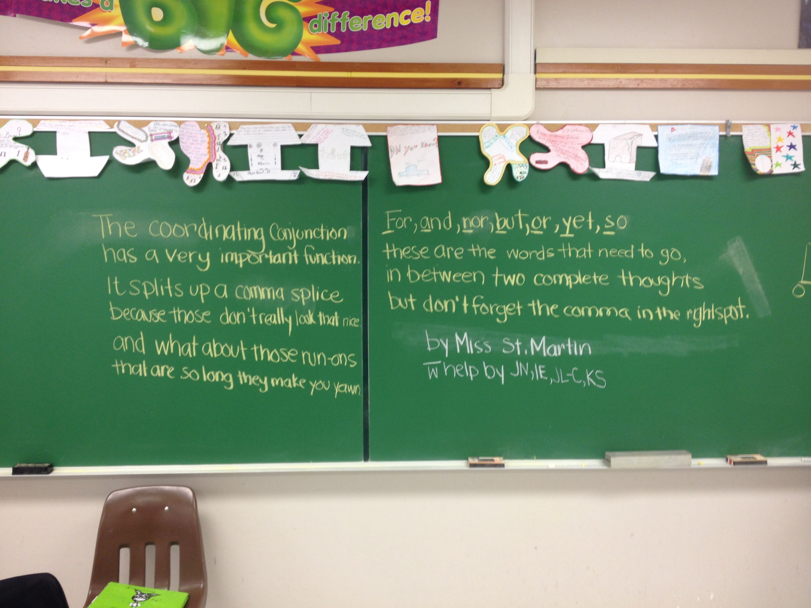 Coordinating Conjunction Poem