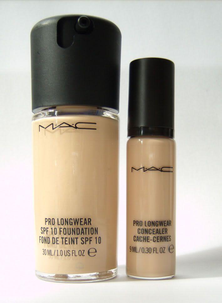 Pro Foundation Mixers By Nyx Professional Makeup: Review: MAC Pro Longwear Foundation En Concealer