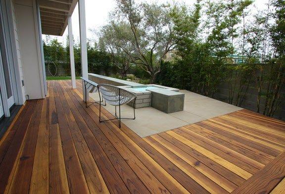 Concrete Wood Deck