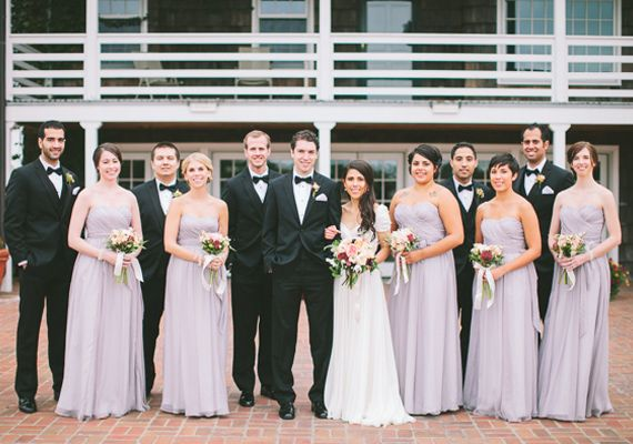 Lavender and black wedding party | Steven Michael Photo | 100 Layer ...
