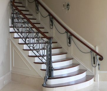 Bottom Round Wrouth Iron Staircases | Wrought Iron Banister Railings Design  Ideas, Pictures, Remodel, And .