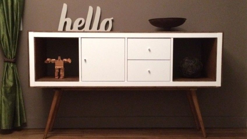 Un meuble stylé années 50 avec KALLAX Ikea hack, 50s furniture and