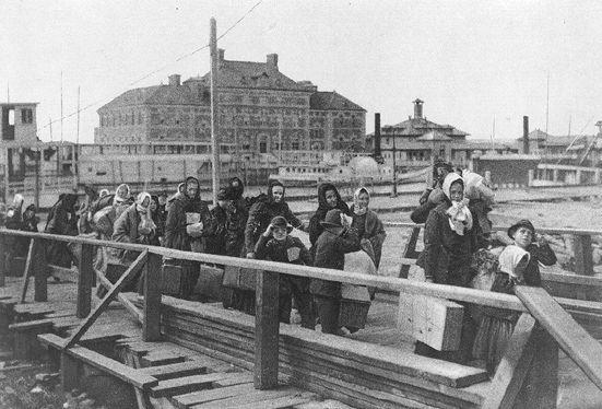 Ellis Island - photo from 1902
