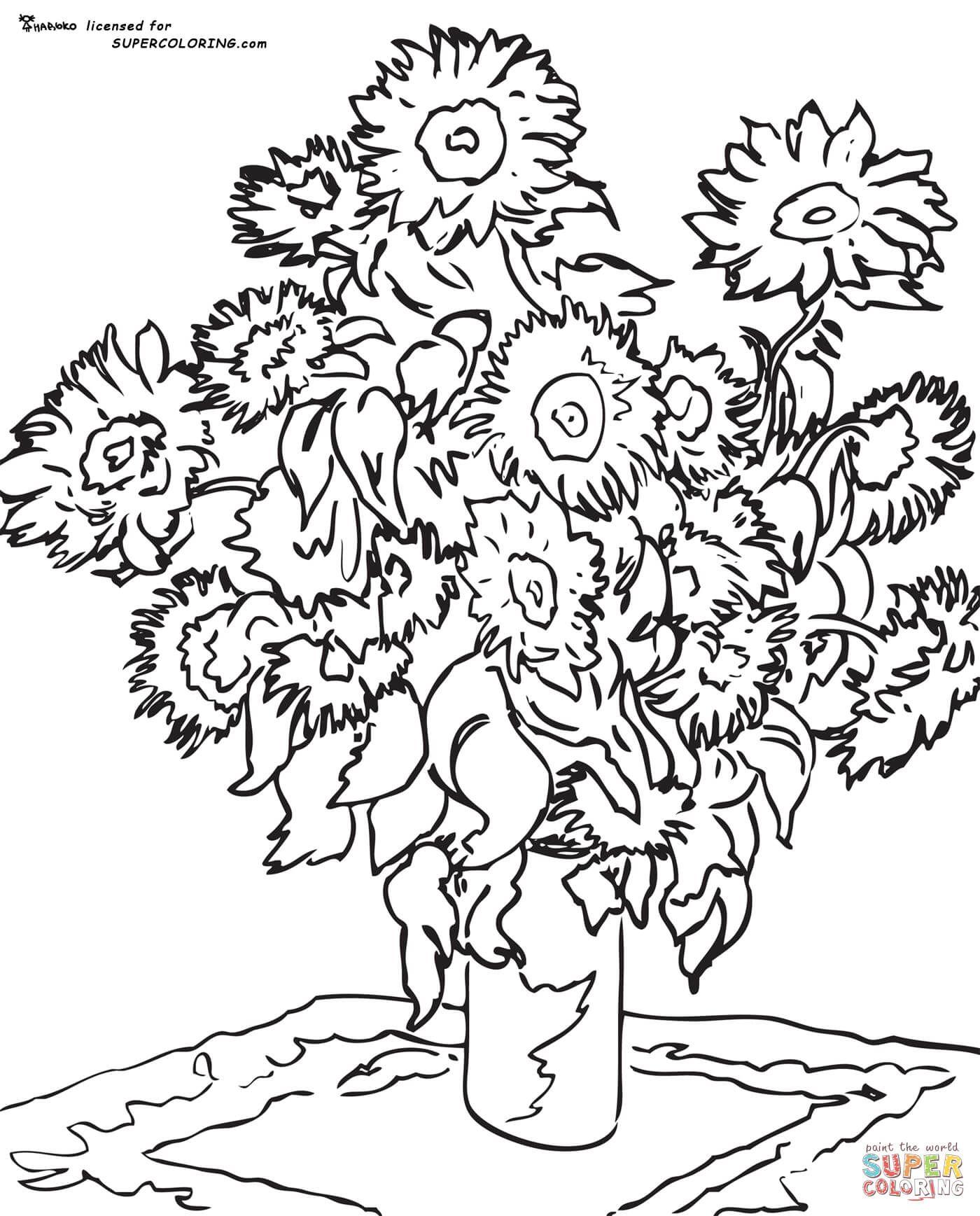 Sunflower By Claude Monet Coloring Page Free Printable Coloring Pages Kunst Voor Kinderen Kunst Activiteiten Kleurplaten