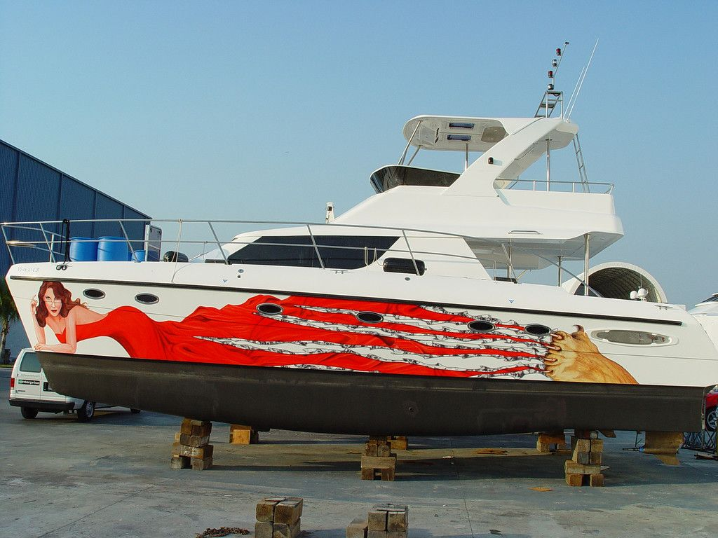 Personal Boat Vinyl Wrap For Sugar Daddy Boat Wraps AutoWraps - Boat decals custom graphics