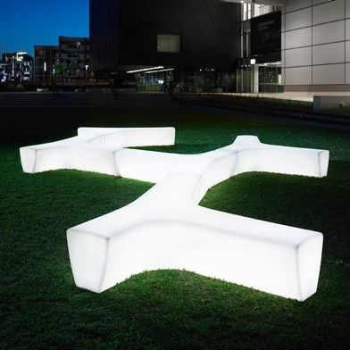 Twig Illuminated Seat Wall Bench Construction - LLD Polyethyene Standard  Finish - Translucent, Matrix or Standard Colors Installation - Portable or  Surface ...