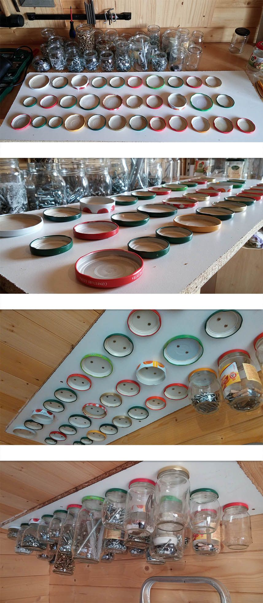 Rangement original pour visserie mes r alisations pinterest rangement originaux et - Astuce rangement atelier bricolage ...
