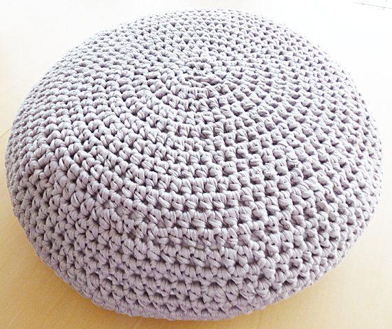 Large Crochet Pouf Ottoman Floor Cushion Pdf Pattern Instant