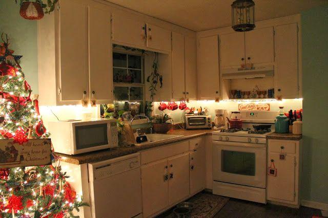 White Kitchen String Lights Instaimage