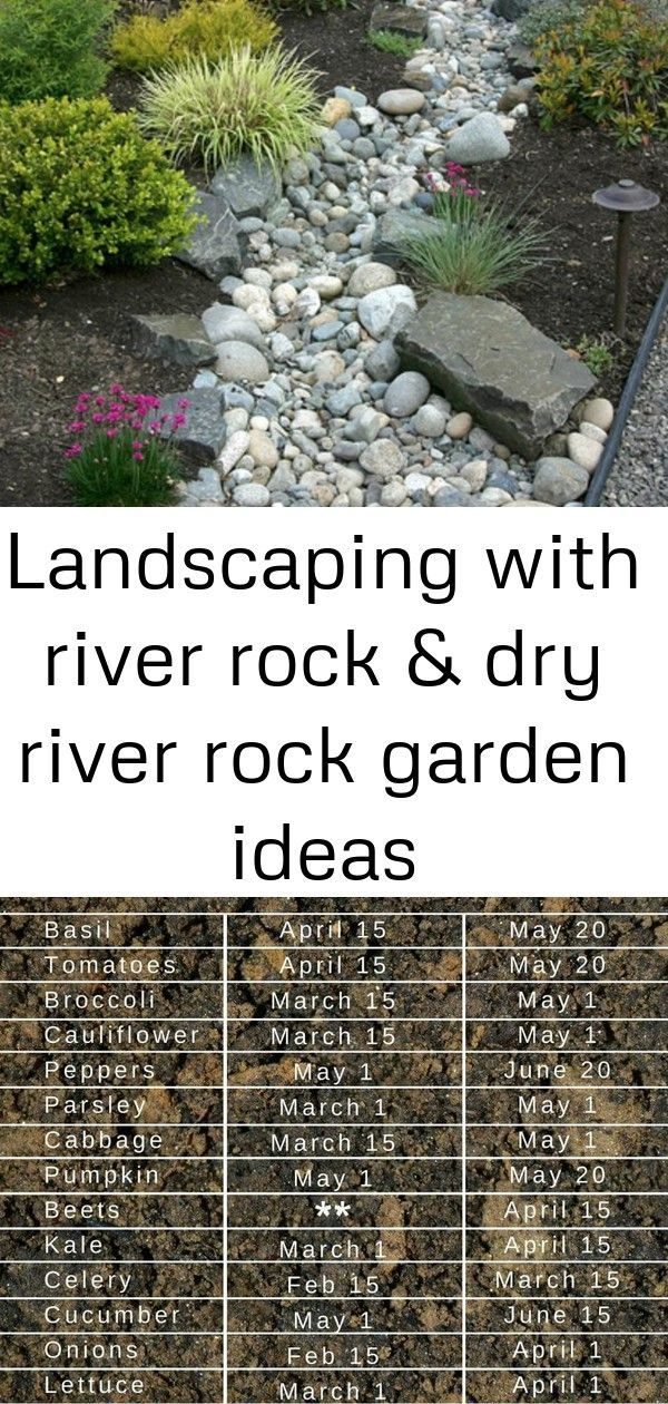 Landscaping with river rock & dry river rock garden ideas #riverrockgardens Create a beautiful and low maintenance garden incorporating river rock; landscaping with a dry stream and using river rock to accent your garden.  10 Small Balcony Garden Ideas: How To Dress Up Your Balcony 38 small apartment balcony decorating ideas - Wholehomekover #riverrockgardens