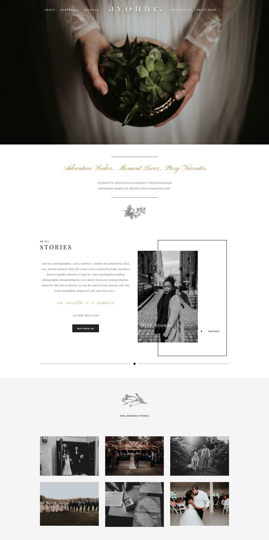 6 Amazing Photographers Who Use D Avella Kit Squaremuse Photography Website Design Photographer Website Photographer Website Templates