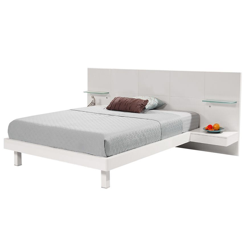Bedroom Sets El Dorado chico white queen platform bed w/nightstands | furniture and home