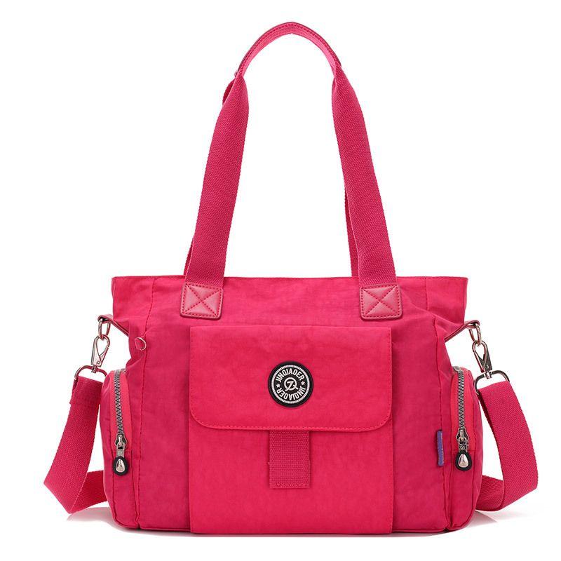 Fashion Large Capacity Flap Bag Women Shoulder Bag Waterproof Nylon Zipper  Solid Lady Tote Handbag Crossbody e54b5e77fd670
