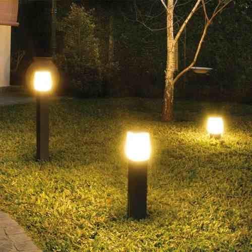 Fw 2400 farola exterior de aluminio altura 50 a 80 cm - Iluminacion para jardines exteriores ...