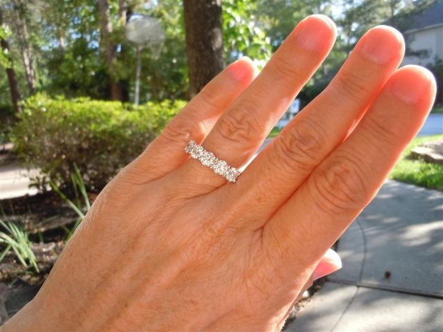 Loving Idjewelry By Ooo Shiney Eternity Ring Diamond Bands Diamond White