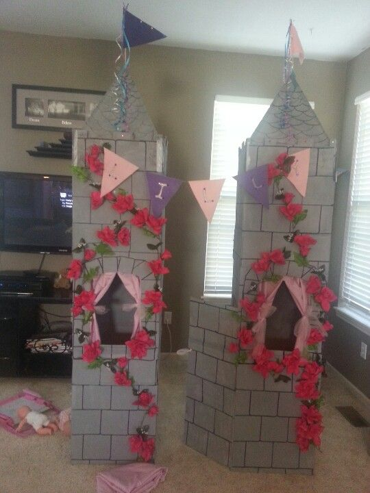 princess birthday we could decorate her existing castle. Black Bedroom Furniture Sets. Home Design Ideas