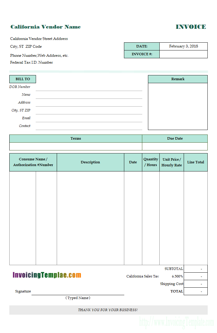 Invoice Template In Excel For California Invoice Template Invoice Design Template Invoice Template Word