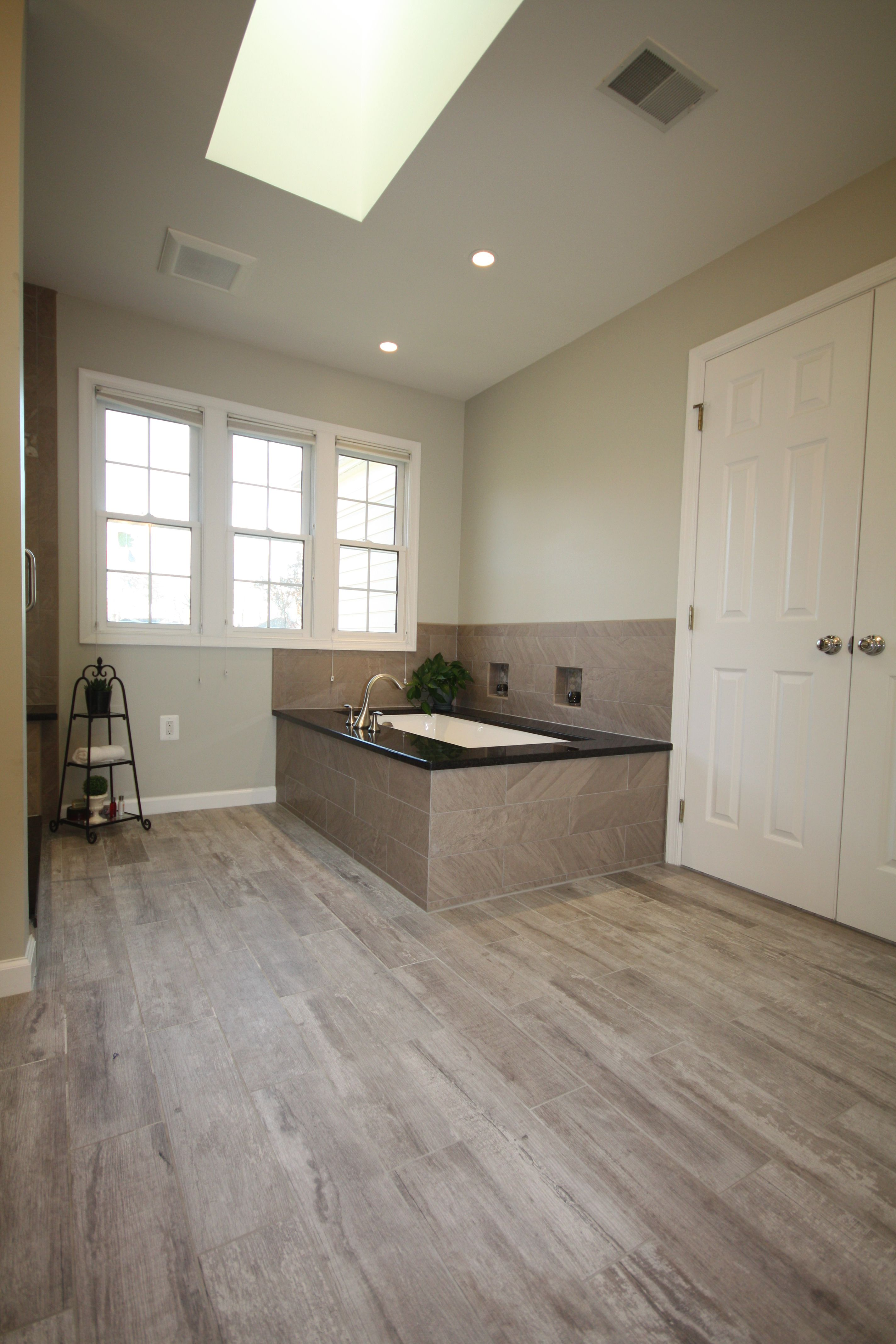 Porcelain tile to look like wood planks for the master bathroom porcelain tile to look like wood planks for the master bathroom suite decor dailygadgetfo Images