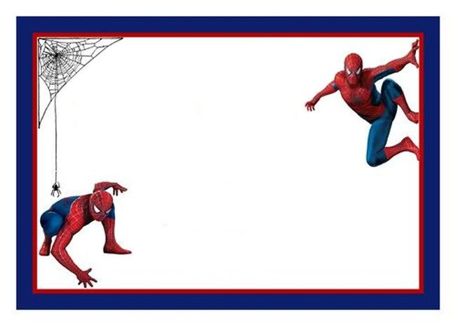 Spiderman Free Printable Invitation Template Invitations Online