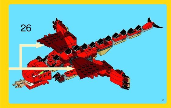 Creator Red Creatures Lego 31032 Kids Lego Directions