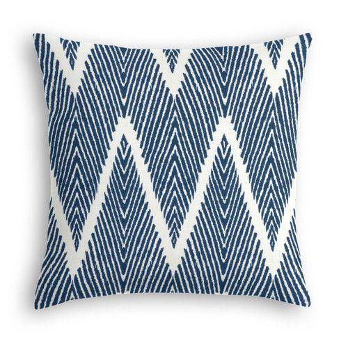Navy Tribal Inspired Chevron Custom Throw Pillow