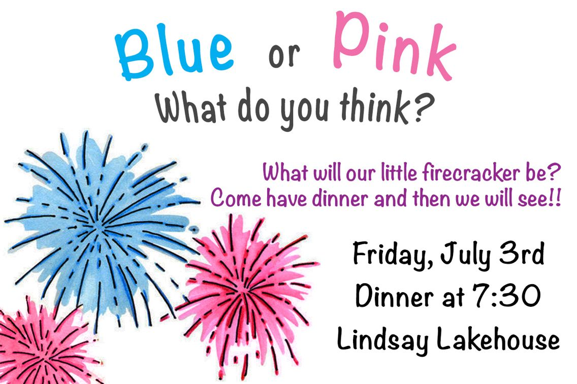 Fireworks gender reveal party invitation | My furniture and ...