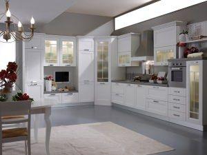 Cucine componibili: cucina con angolo vetrina. | Cucine su misura a ...