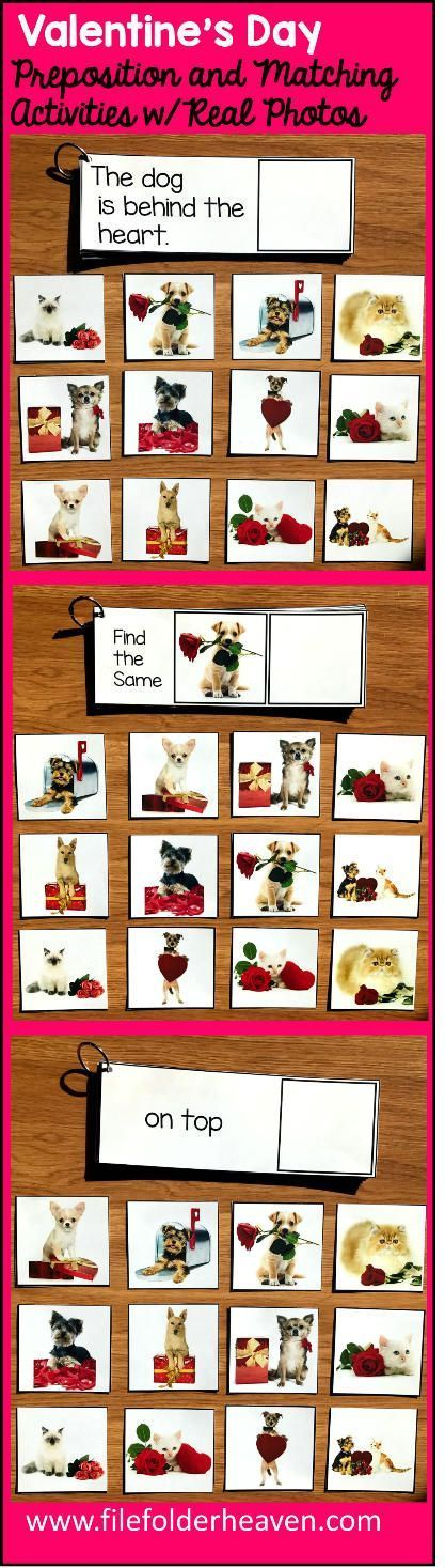 These Valentineu0027s Day Prepositions and Matching Activities w Real - basic p&l template