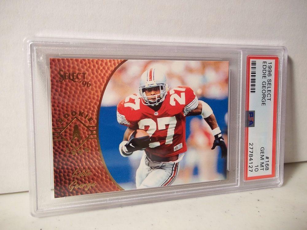 59bb1c1068d 1996 Select Eddie George Rookie PSA Gem MInt 10 Football Card #168 NFL  #HoustonOilers
