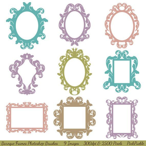 baroque frames photoshop brushes vintage borders frames photoshop