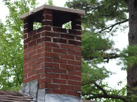 Bluestone Caps For Chimney Chimney Rebuild Before And After Dismantle Existing Brick Chimney Chimney Cap Brick Chimney Brick