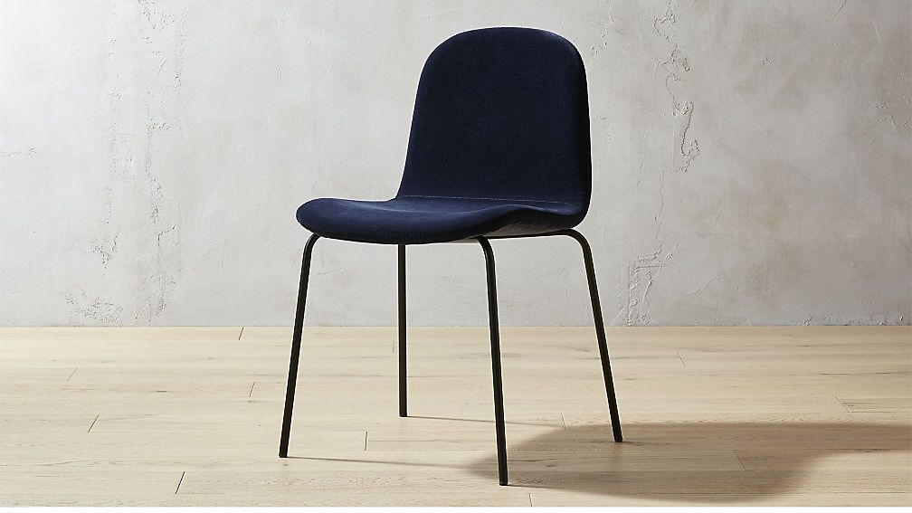 Primitivo Navy Blue Velvet Dining Chair Reviews Blue Velvet