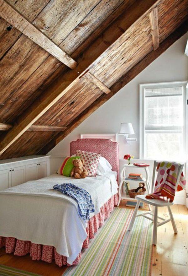 30 Ideen Für Kinderzimmergestaltung   Ideen Deko Dach Holz Ideen Für  Kinderzimmergestaltung