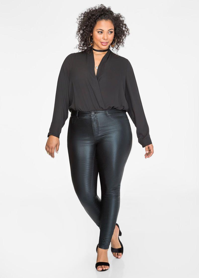 Surplice Blouse Bodysuit Style Indulgence Pinterest Bodysuit