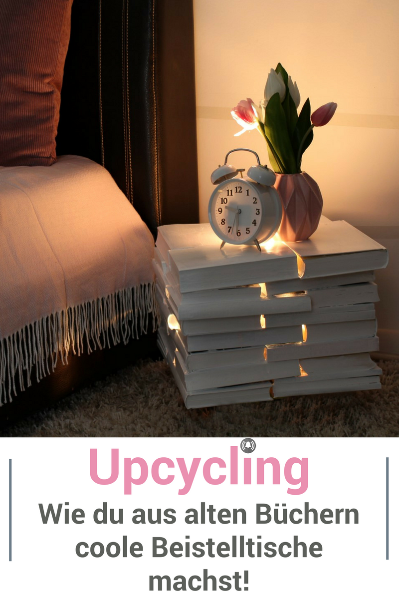Photo of Upcycling: Beistelltische aus alten Büchern selber machen