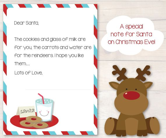 A special note for santa on christmas eve christmas pinterest a special note for santa on christmas eve in our letter to santa kit everything you need to write a very special letter to santa claus this year spiritdancerdesigns Image collections
