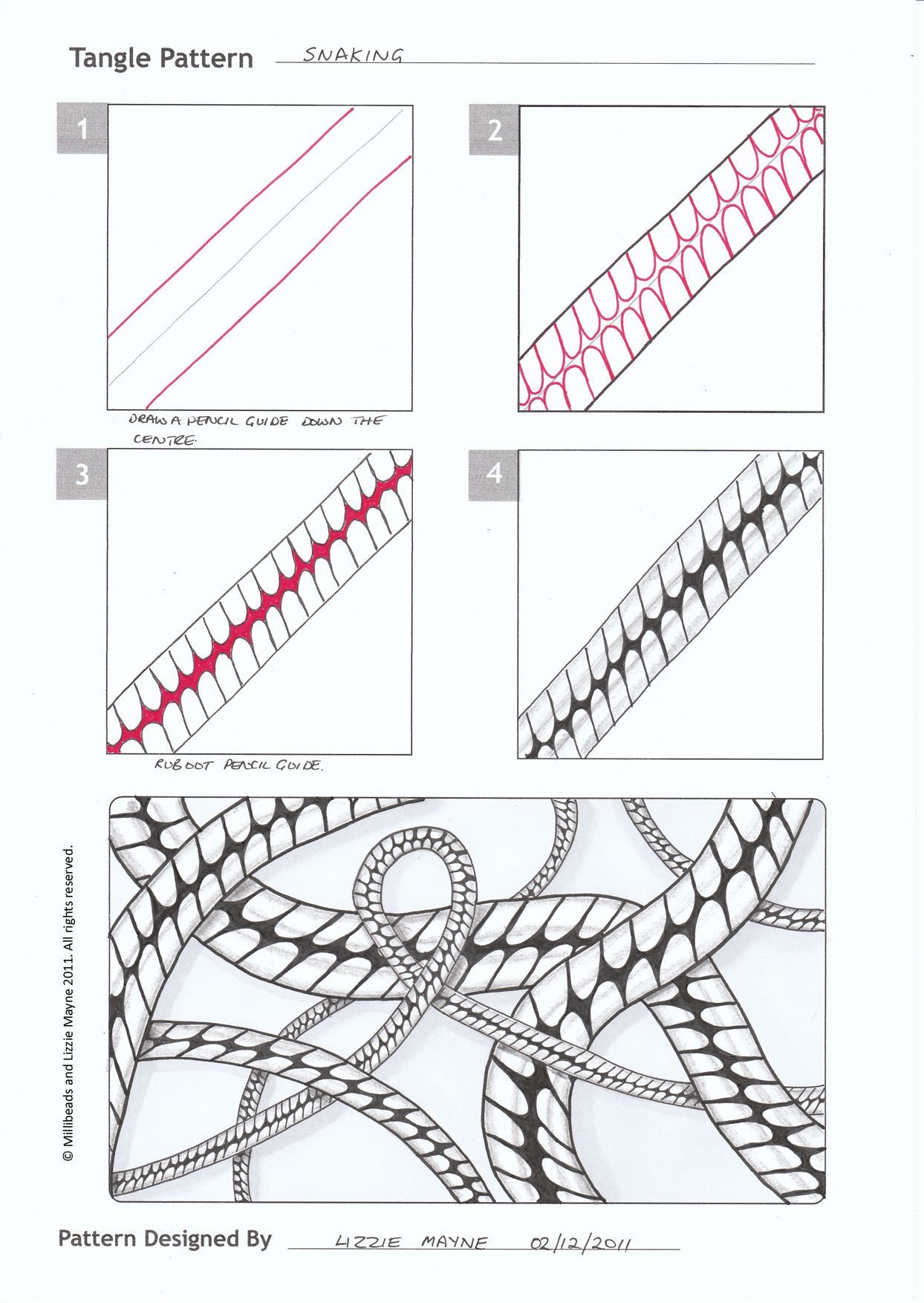 Zentangle Patterns Step By Step - Bing Images | Zentagle | Zentangle